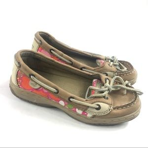 Sperry Angelfish Slip On Boat Shoes Sz 2.5 Girl